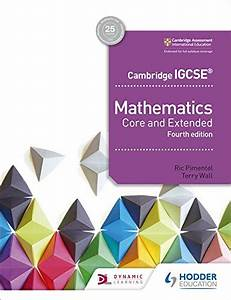 Download Cambridge Igcse Mathematics Core And Extended 4th