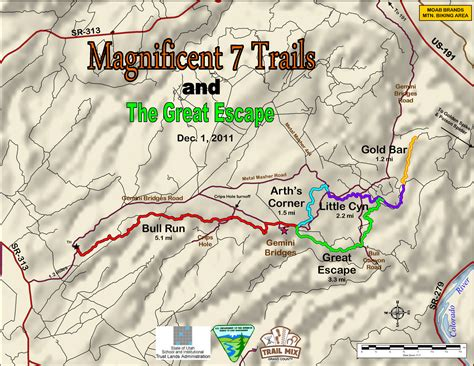 moab jeep trails map wheels water moab part 3 the magnificent seven