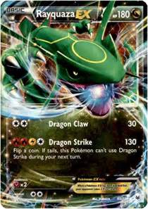 Mega Pokemon Rayquaza EX Card