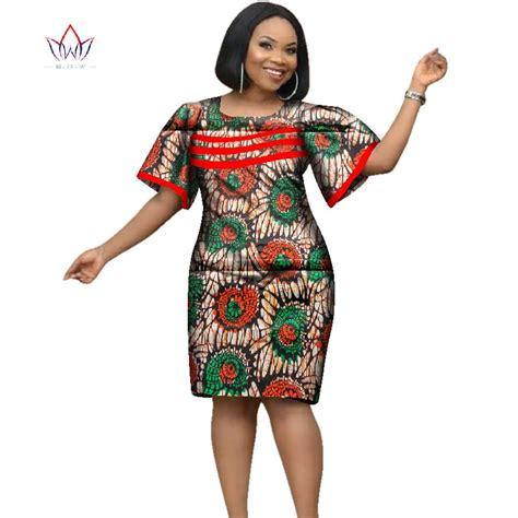 2018 Africa Dress For Women African Wax Print Dresses