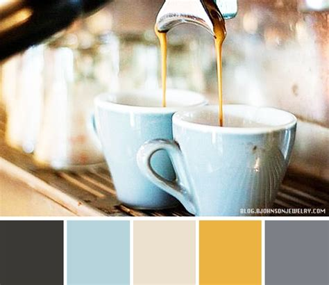 best color shoo color palette coffee in the morning coffee shop decor