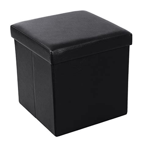 your zone gaming storage ottoman black songmics faux leather folding storage ottoman cube foot