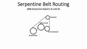 Solved  Need Sepentine Belt Diagram For 2006 Honda Civic