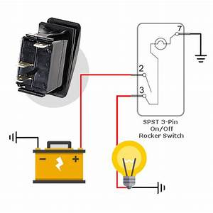Spst Led Marine Rocker Switch