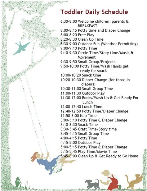 plan daily schedule another toddler schedule i 39 m swiping these from daycares