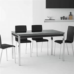 Table De Cuisine Extensible : table de cuisine en verre avec rallonge bambola 4 pieds tables chaises et tabourets ~ Teatrodelosmanantiales.com Idées de Décoration