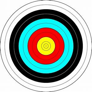 Archery Target clip art Free vector in Open office drawing ...
