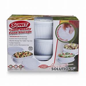 Gourmet Solutions 6-Piece Microwave Food Storage Set ...