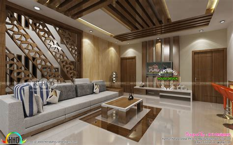 grand living upper living interior designs kerala home