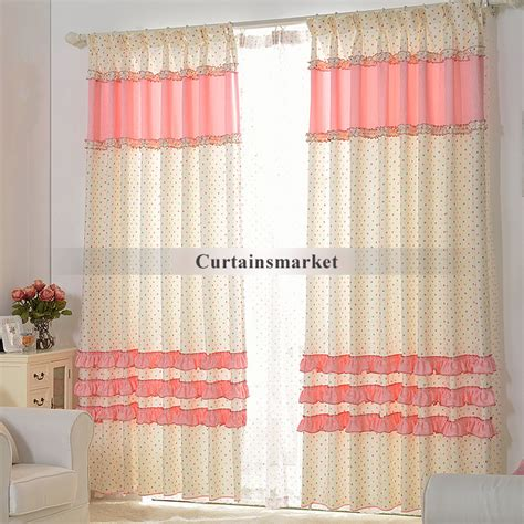 pink and white polka dot curtains are simple and beautiful