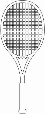 Racket Tennis Tenis Silhouette Kleurplaat Raqueta Outline Silhouettes Imprimir Svg Silueta Contorno sketch template