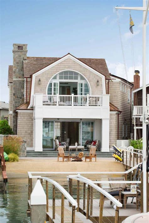 Cape Cod inspired home with beautiful Bayfront views in