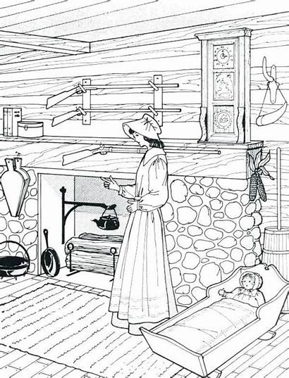 Coloring Pages Farm Laura Ingalls Wilder Doll