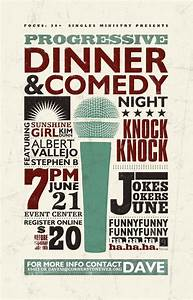 comedy night poster with textures poster ideas With comedy night poster template