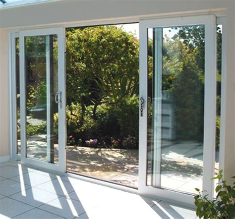 sliding glass patio doors white upvc 4 pane sliding patio doors synseal 4200mm