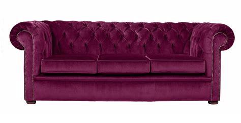Purple Velvet Chesterfield Sofa, Handcrafted In The Uk