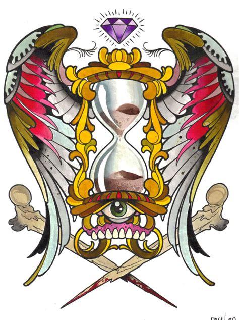 cool hourglass tattoo design ideas