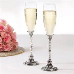 wedding toasting flutes beaded toasting flutes chagne toasting flutes