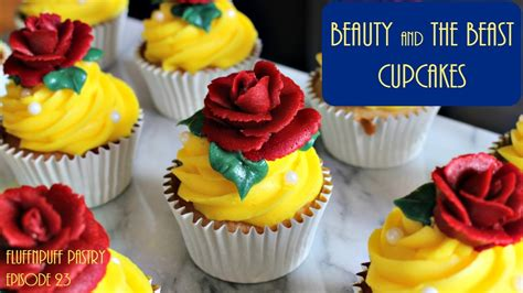 beauty   beast cupcakes fluffnpuff pastry youtube