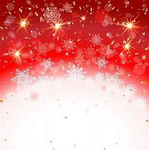 Red with white christmas background and snow vector ...