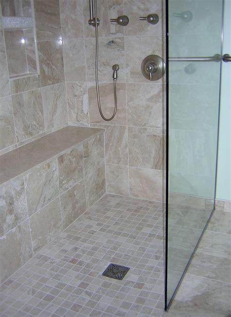 curbless shower  bathroom remodels   master