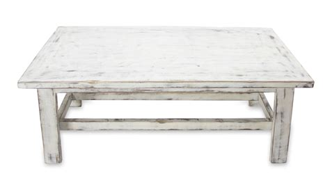 white wooden table l handcrafted rustic white wood coffee table yahualica