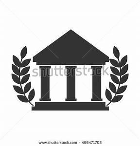 College Icon University Education Wreaths Academy Stock ...