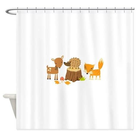 woodland shower curtain woodland animals shower curtain by greatnotions26