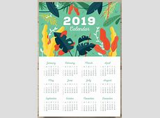 Free Printable 2019 One Page Calendar July 2019 Calendar