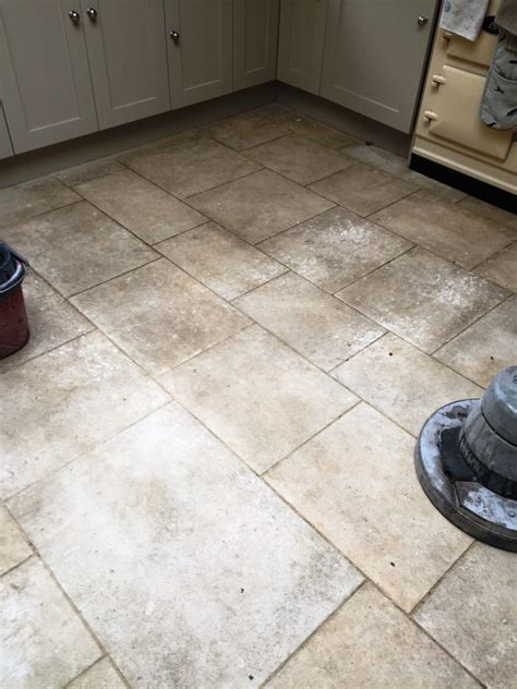 cleaning limestone floors kitchen poorly sealed limestone kitchen tiles restored in 5458