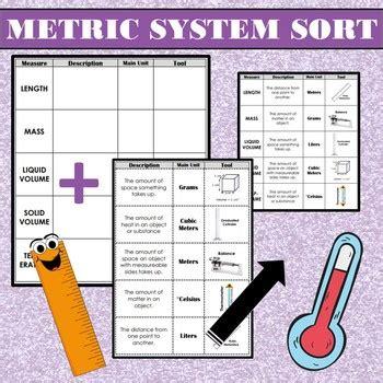 metric system measurement sort description units
