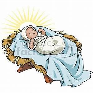 Royalty-Free Baby Jesus in a Manger Glowing 143670 vector ...