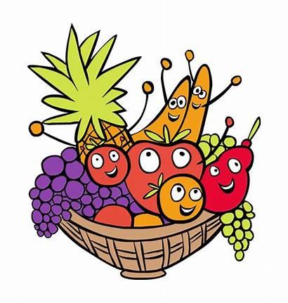 Basket Fruit Clipart Clip Thanksgiving Baskets Hat