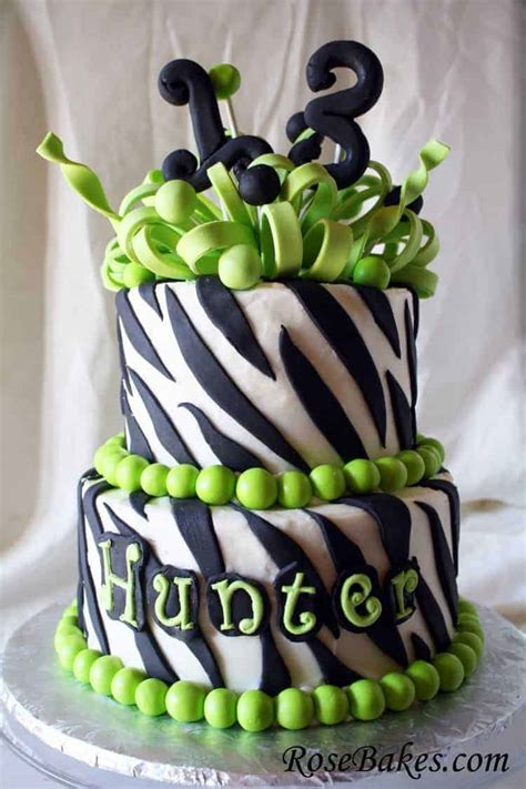 birthday cake zebra stripes  frilly bow  lime