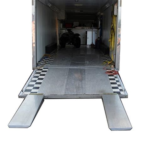 pit pal rear trailer door extension ramps  aluminum