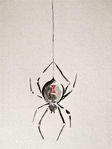 Black Widow Spider Watercolor Painting | Chang'e 3, Thank ...