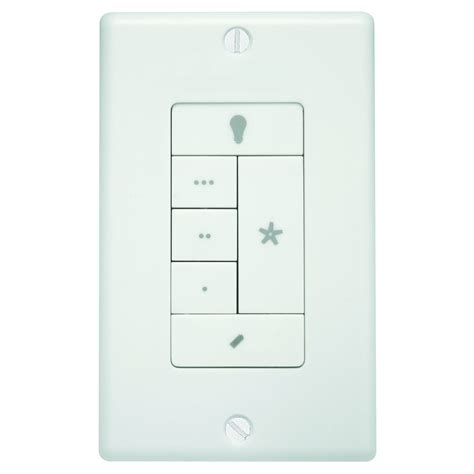 lowes ceiling fan wall switch shop hunter white wall mount universal ceiling fan remote