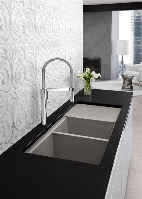 modern square kitchen faucets home design ideas and pictures