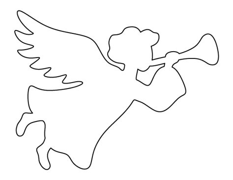 christmas angel pattern use the printable outline for