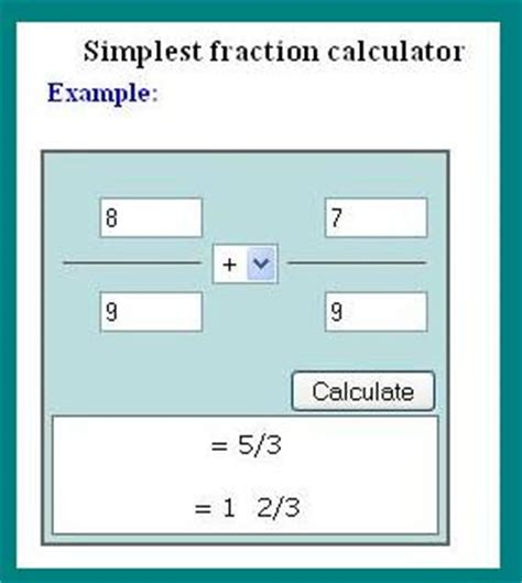 simplify the fraction calculator