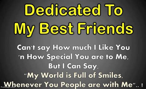 dedicated to my friends quotes