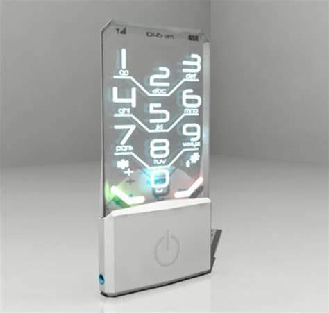 clear phone clearly calling you transparent nokia cell phone concept