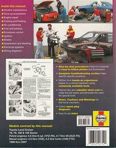 Toyota Land Cruiser 78  79  100  105 Petrol  U0026 Diesel 1998