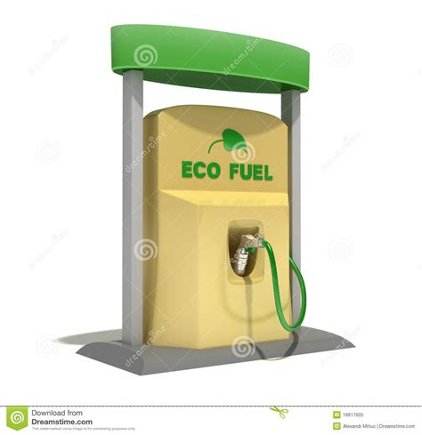 Eco Fuel by Eco Fuel Station Stock Illustration Illustration Of