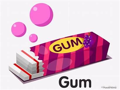Gum Clipart Chewing Bubble Wrapper Chain Cartoon