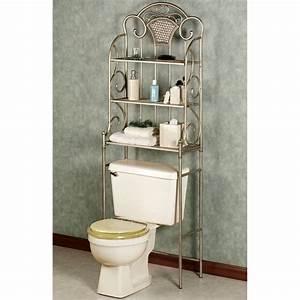 Bathroom Space Saver Over Toilet Nickel With Sleek Metal
