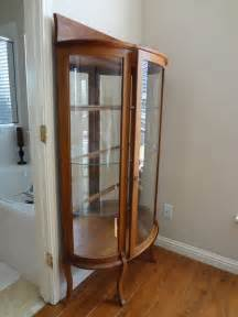 curved glass curio cabinet value curved glass curio cabinet value my antique furniture