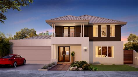 modern house layout narrow lot homes two storey small building plans