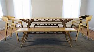 modern varnished white oak wood dinng bench and chairs of With dining room furniture with bench
