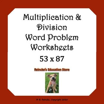 The division problems do not include remainders. Multiplication and Division Word Problems Worksheets | TpT
